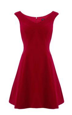 Red velvet dress | Karen Millen