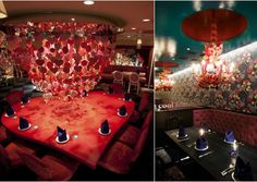 Queen of Hearts chandelier - Alice restaurant Tokyo