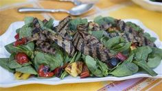 Savor the flavors of Brazil with this grilled steak and pineapple salad