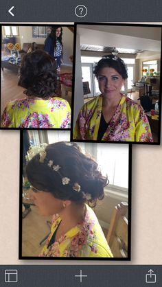 Special occasion Bridesmaid updo done by me | flagstaff wedding | classy updo with curls | hair by Michelle M.