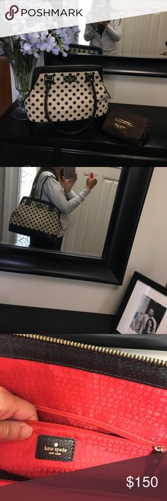 Kate Spade Beautiful mixed media Kate Spade with dust cover. Excellent condition! kate spade Bags Shoulder Bags