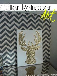 Easy Peasy Glitter Reindeer Art DIY