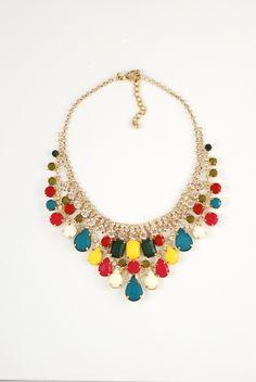 rainbow necklace choker