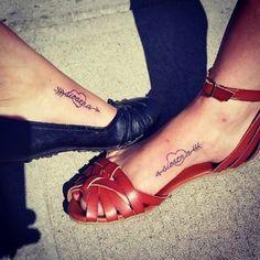 Maybe someday, sissy! 27 Heart-Melting Sister Tattoos @1crazyhorsegirl