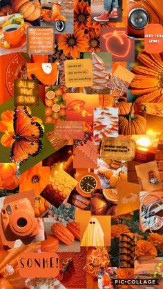 Whats Wallpaper, Retro Wallpaper Iphone, Butterfly Wallpaper Iphone, Orange Wallpaper, Mood Wallpaper, Iphone Wallpaper Tumblr Aesthetic, Iphone Background Wallpaper, Aesthetic Pastel Wallpaper, Aesthetic Wallpapers