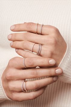 An elegant, modern white gold rings delicately crafted in timeless white gold. All rings are decorated with stunning, brilliant diamonds. White Gold Rings, Silver Rings, Modern Wedding Rings, Matching Rings, Rings For Her, Brilliant Diamond, Bohemian Fashion, Timeless Beauty, Classic White
