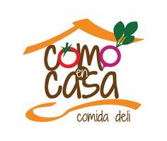 Como en Casa, restaurant Comida Deli by Hugo Kerckhoffs, via Behance Delivery Comida, Pizza Logo, Food Menu Template, Restaurant Logo Design, Food Menu Design, Cooking App, Logo Food, Cake Shop, Food Industry