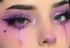 Edgy Makeup, Makeup Eye Looks, Eye Makeup Art, Cute Makeup, Pretty Makeup, Eyeshadow Makeup, Hair Makeup, Pink Eyeshadow, Makeup Stuff