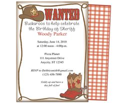 Kids Party : Wanted Kids Birthday Party Invitation Template