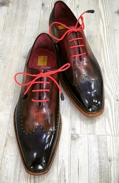 Paul Parkman Men's Wingtip Oxford Goodyear Welted Navy Red Black (ID Me Too Shoes, Men's Shoes, Shoe Boots, Dress Shoes, Fly Shoes, Shoes Men, Italian Leather Shoes, Italian Shoes, Expensive Shoes
