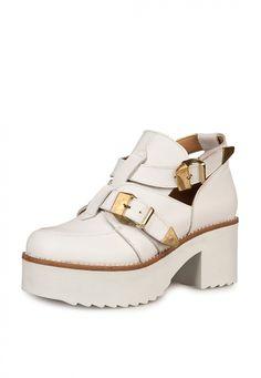 Me encanta! Miralo! Zapato Blanco Anca