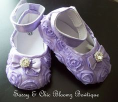Purple Chiffon Rosette Baby Shoes,Baby Girl Accessories,Baby Girl Shoes on Etsy, $14.78