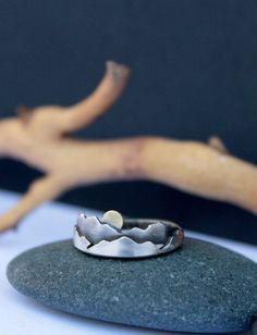 cool Mountain Ring Mini Sterling Silver Mountains Ring  #JewelryDesign