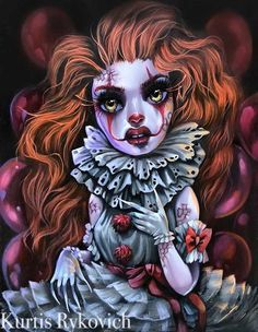 These prints are all of my Original oil paintings. They are on Fine Art Luster Paper. They are common frame sizes so that you may find your perfect frame anywhere. Arte Horror, Horror Art, Illustrations, Illustration Art, Arte Lowbrow, Beautiful Dark Art, Sugar Skull Art, Goth Art, Pop Surrealism