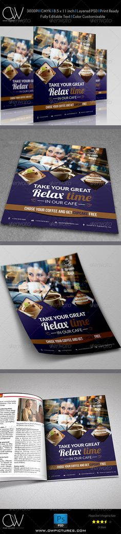 Cafe Restaurant Flyer Template Vol.2