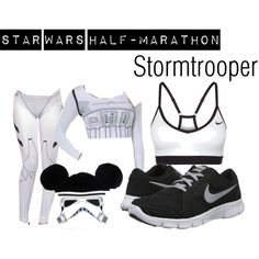 """""""Star Wars Half-Marathon: Stormtrooper"""" I would want a full top but I like this idea. Especially the ears :-)"""
