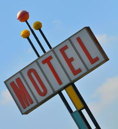 """Motel"" - American Graphic 50s/60s Neon Signs."