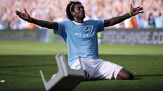 Manchester City v Arsenal in 2009: City's 4-2 win included Emmanuel Adeboyer's infamous celebration in front of his former tormentors amongst the Arsenal fans.
