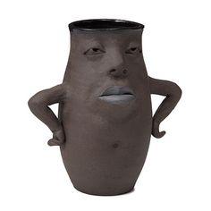 portray emotion/attitude in clay. Attitude Vase via UnCommonGoods.