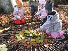 Using natural materials found outside to create mandalas is a lovely way to work…