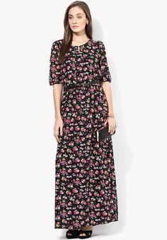 351ed458663b Buy MIAMINX Black Colored Printed Maxi Dress Online - 3177536 - Jabong