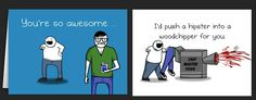 Horrible Greeting Cards Bring Your Message Across With Creepily Funny Comics