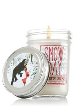 Snow Day 6 oz. Mason Jar Candle - Slatkin & Co. - Bath & Body Works