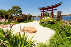 It's ridiculous that these Cars topiaries are placed in World Showcase's Japan during Epcot's Flower & Garden Festival.  More Flower & Garden info: http://www.disneytouristblog.com/epcot-flower-garden-festival-photos/