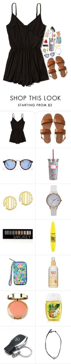 """""""happy friday!"""" by theblonde07 ❤ liked on Polyvore featuring Hollister Co., Aéropostale, Madewell, QVC, Olivia Burton, Forever 21, Maybelline, Lilly Pulitzer, Burt's Bees and Mercedes-Benz"""