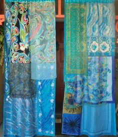 AZURE VIEW  Handmade Gypsy Curtains by BabylonSisters