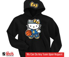 Hello Kitty Golden State Warriors Hoodie - 2 Prints (Front-Hood) on Etsy, $32.00