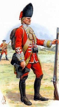 Private of the 5th Foot at the battle of Wilhelmstahl, 1762.