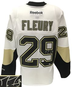 Marc-Andre Fleury Signed Pittsburgh Penguins White Reebok Premier Jersey  JSA - Sports Integrity Nhl a0a4774e8