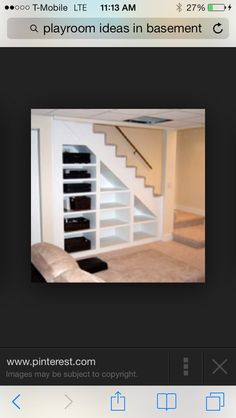 Trendy Ideas Unfinished Basement Storage Shelves Under Stairs Small Basements, Basement Decor, Basement Remodeling, Home Remodeling, New Homes, Basement Remodeling Plans, Basement Storage, Remodeling Plans, Basement Stairs