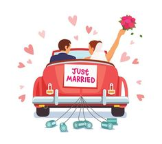 Buy Newlywed Couple Driving Car for Honeymoon by IconicBestiary on GraphicRiver. Newlywed couple is driving a vintage convertible car for their honeymoon with just married sign and cans attached. Cross Stitch Embroidery, Embroidery Patterns, Adobe Illustrator, Teenager Party, Just Married Sign, Promotional Banners, Cute Wall Decor, Car Illustration, Wedding Illustration