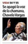 Portada Impresa - El Heraldo - Honduras - Chavela Vargas