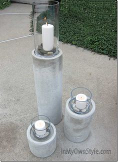 How to Hack a Restoration Hardware Concrete Fire Column using concrete/hypertufa and quick tube form