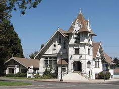 Rialto is a city in San Bernardino County, California through which Route 66 runs. This is the 1907 First Christian Church, now Rialto Historical Society.