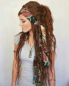 Bolhemian Gypsy Look.