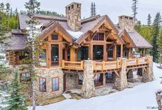 We've gathered 8 of the most stunning log cabin homes in America that boast spectacular views, exquisite floor plans and immaculate attention to detail. home plans, 8 of the Most Stunning Log Cabin Homes in America Dream Home Design, My Dream Home, Dream Homes, Casas Cordwood, Log Home Decorating, Log Cabin Homes, Log Cabin House Plans, Luxury Log Cabins, Modern Log Cabins