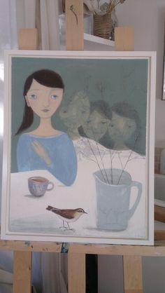 Sam Read  'wheatear  'Mixed media,Acrylic