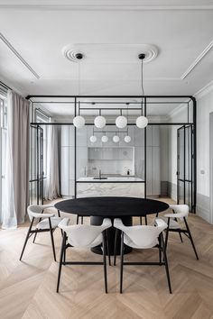 Modern, chic dining room for interior design inspiration Dining Room Inspiration, Interior Design Inspiration, Wallpaper Mag, Interior Modern, Interior Architecture, Residential Architecture, Modern Luxury, Minimalist Apartment, Minimalist Home Design