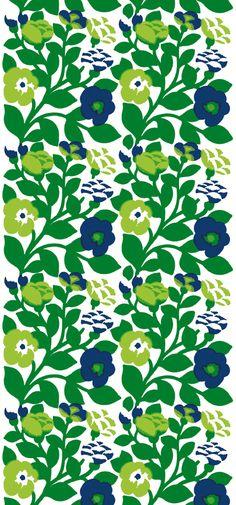 Green Green wallpaper mural by marimekko Motifs Textiles, Textile Patterns, Textile Design, Print Patterns, Marimekko Wallpaper, Marimekko Fabric, Green Wallpaper, Pattern Wallpaper, Scandinavia Design
