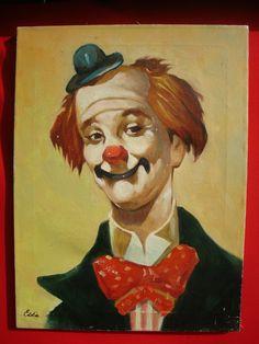 Clown Painting by Eddie