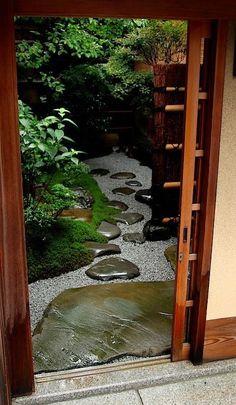 Small courtyard garden.
