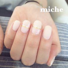 いいね!58件、コメント1件 ― mako suzukiさん(@mako.miche)のInstagramアカウント: 「指輪に合わせて♡ ヌーディネイル。  表参道ネイルサロンmiche(ミシェ) 鈴木真子…」