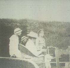 Grand Duchesses Tatiana, Olga, Empress Alexandra and Tsarevich Alexei