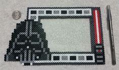 Star Wars Darth Vader Photo Frame Hama Beads by PerlerHamaParadise Perler Bead Designs, Diy Perler Beads, Perler Bead Art, Pearler Beads, Fuse Beads, Fuse Bead Patterns, Perler Patterns, Beading Patterns, Perle Hama Star Wars