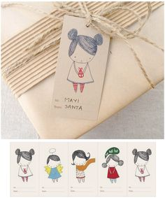 ✂ That's a Wrap ✂ diy ideas for gift packaging and wrapped presents - Free printable gift tags. Free Printable Gift Tags, Free Printables, Printable Labels, Diy Gifts, Handmade Gifts, Arts And Crafts, Paper Crafts, Christmas Crafts, Gift Wrapping