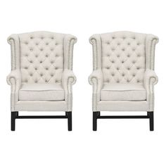 Linen club chairs (set of 2) $698